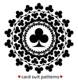 Club card suit pattern vector image