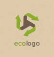 concept logo recycle products the use of vector image