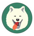 Digital samoyed dog face vector image