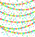 Flags And Confetti vector image