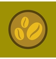 flat icon on background beans coffee logo vector image