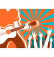 rock musician concert background poster vector image
