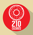 Single Donut 210 Calories Symbol vector image