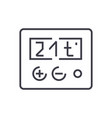 thermostat line icon sign on vector image