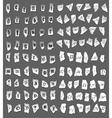 Vintage letters on turned paper vector image