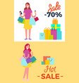 -70 sale and hot sale vector image