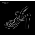 Elegant womens high heel shoe on black background vector image