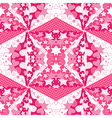 Pink background with hearts and stars vector image vector image