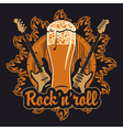 Beer and rock and roll vector image vector image
