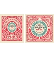 Old cards with floral details Elements organized vector image