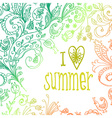 Doodle floral card vector image