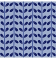 Blue seamless floral pattern handmade vector image