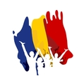 Great Union Day in Romania vector image