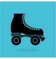 skate retro design vector image