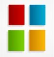 books colorful blank set Flat Design vector image