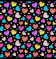 colorful scribbled hearts vector image
