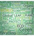 Eco Font set seamless pattern vector image
