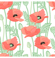 floral poppy white vector image