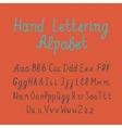 Hand lettering alphabet vector image