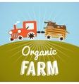 Organic Farm poster vector image