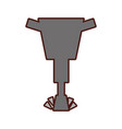 Pneumatic hammer isolated icon vector image