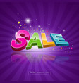 Sale message promotional products vector image