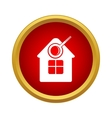 Search home icon simple style vector image