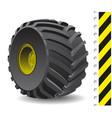 Tractor wheel vector image
