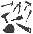 Collection building tools vector image