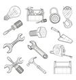 Drawing tools set vector image vector image