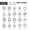 Corporate Business Icons vector image