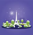Night Christmas Paris vector image