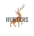 Deer hand drawn logo emblem template vector image vector image