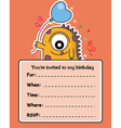 monster birthday card vector image