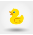Rubber duck toy vector image
