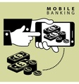 Mobile banking pond vector image