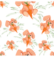 Rabbit with carrot seamless pattern vector image