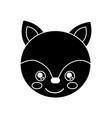 cute animal fox head baby vector image