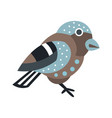 cute small bird colorful cartoon character vector image