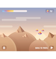 game user interface background level design with vector image
