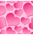 pink valentine hearths from paper seamless pattern vector image