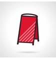 Red empty sandwich signboard icon vector image