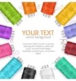 Thread Spool Banner vector image