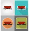 railway transport flat icons 11 vector image