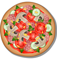 Pizza with toppings vector image vector image