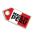 Made in Peru vector image vector image