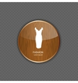 Fashion wood application icons vector image