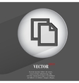 paper pen Flat modern web button with long shadow vector image