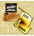 music background classic guitar saxophone one vector image