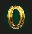 0 golden letter vector image vector image